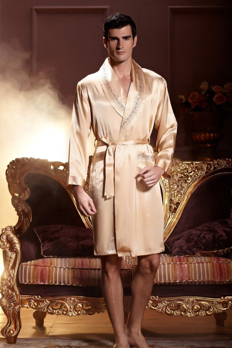 His   Hers Matching Couples Luxury Silk Robe Sets 4b3863ad7