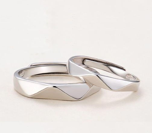 Sterling Silver Minimalist Matching Promise Rings