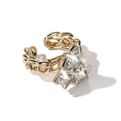 Stars Cluster Chain Band Wrap Ring