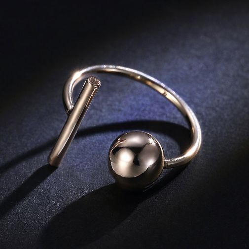 Bar and Ball Adjustable Wrap Ring