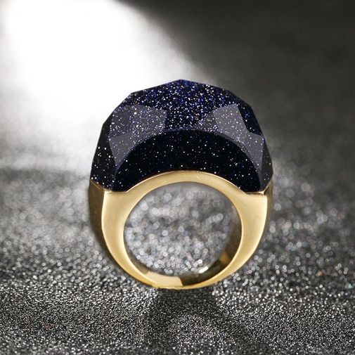 Starry Sky Dome Chunky Ring