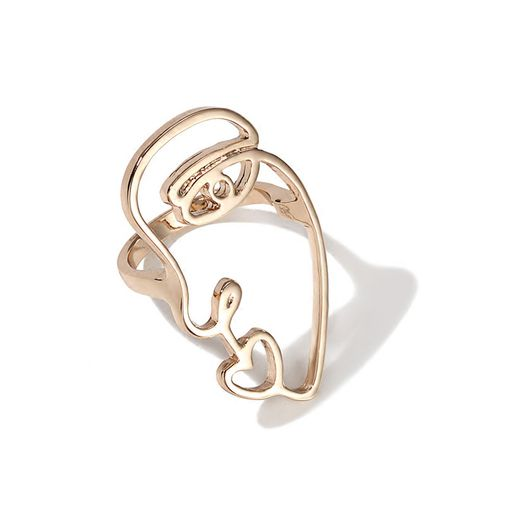 Abstract Face Finger Ring