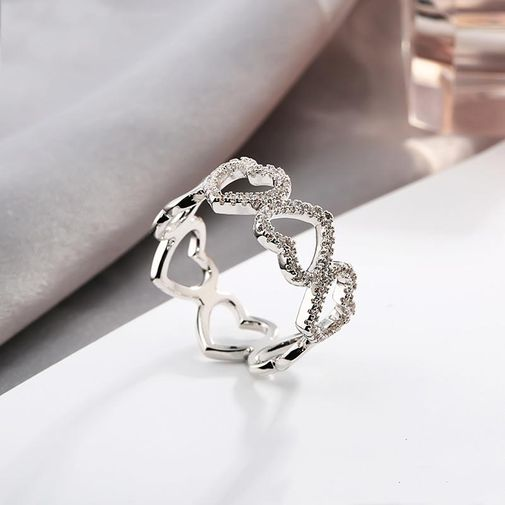 8mm Heart Type Band Ring