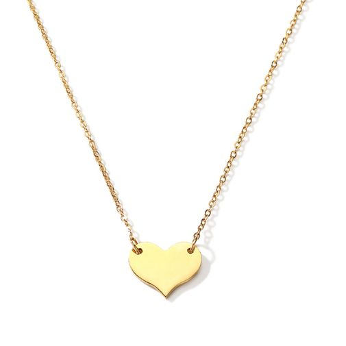 Heart Type Tag O chain necklace