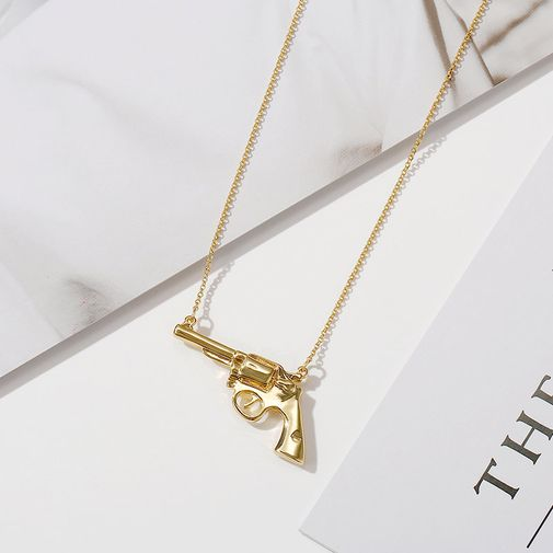 Necklace with Pistol Pendant