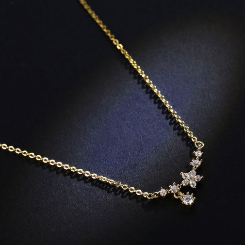 'A Branch of Blooming Flowers' Chain Necklace