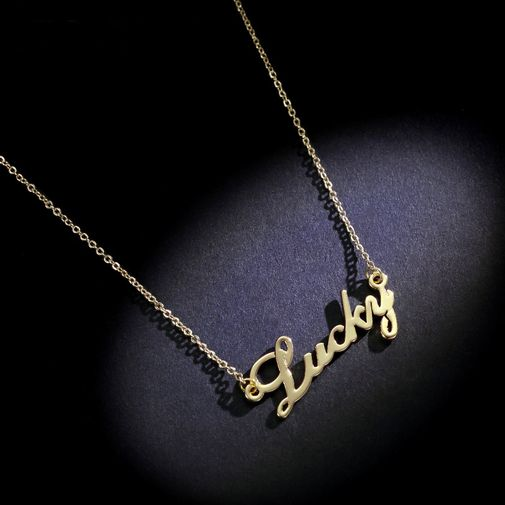 'LUCKY' Letters Necklace