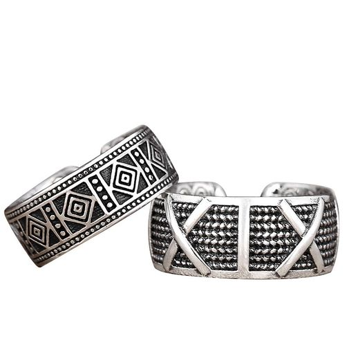 Sterling Silver Oxidised Mens Band
