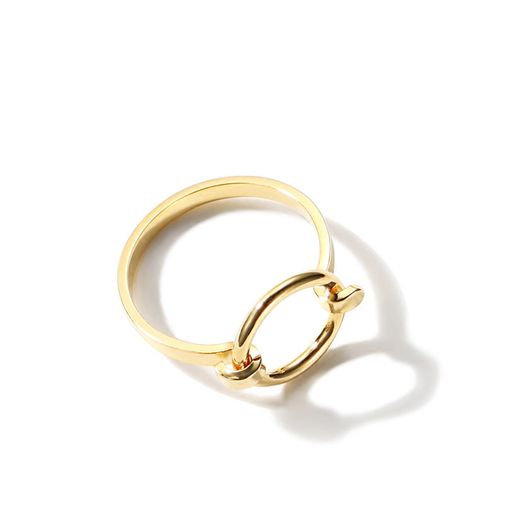 Gold Tone 'Clasp Circle' Finger Ring