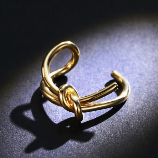 Knot Ring Size Adjustable Open Finger Ring