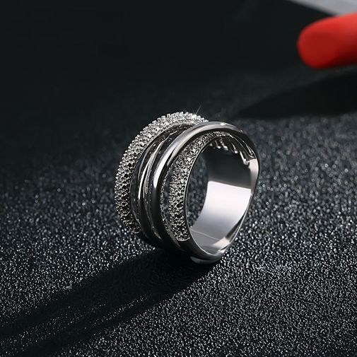 Four Layers Criss-Cross Ring for Women