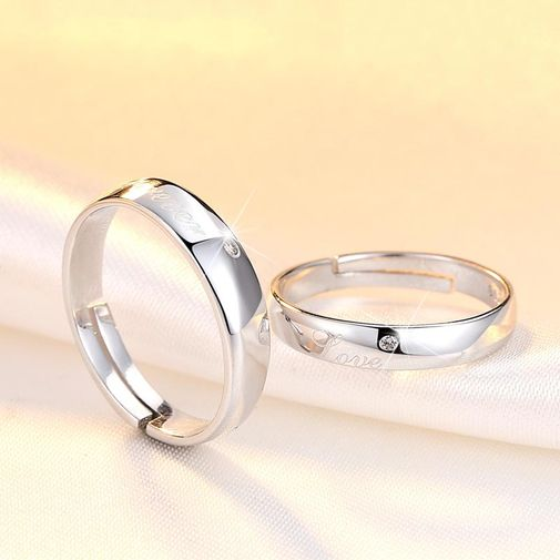 'Forever Love' Adjustable Couples Engagement Rings
