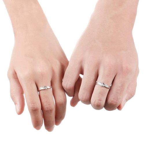 'S' Curved Size Adjustable Rings for Couples