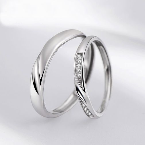 Eternity Bent Band Matching Promise Rings