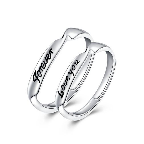 'FOREVER''LOVE YOU' Matching Couples Rings
