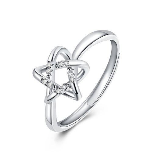 Star Shaped Knot Adjustable Women's Ring