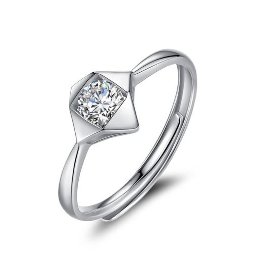 Swarovski Diamond Square Based Women's Promise Ring