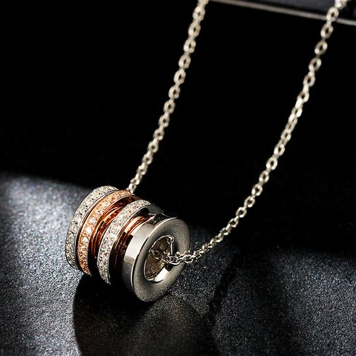 Spinning Ring Necklace in Sterling Silver