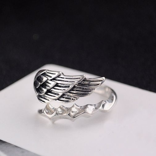 Wing Oxidized Men's Ring