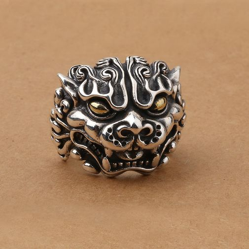 Big Size Brave Troops Men's Gothic Ring