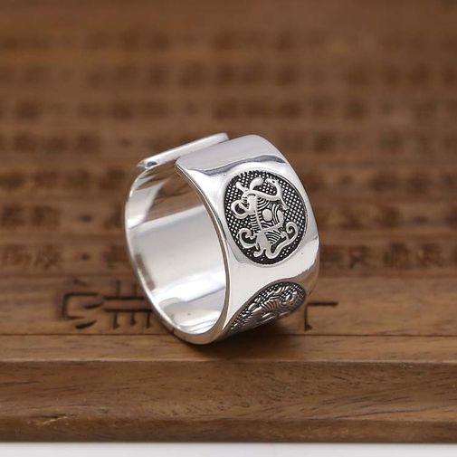 12mm Beast Big Size Man's Band Ring