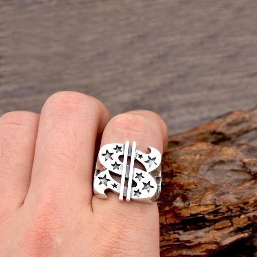 21mm Dollar and Stars Chunky Ring