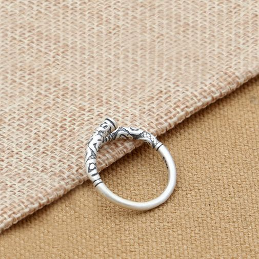 Sterling Silver Frosted Stick Ring