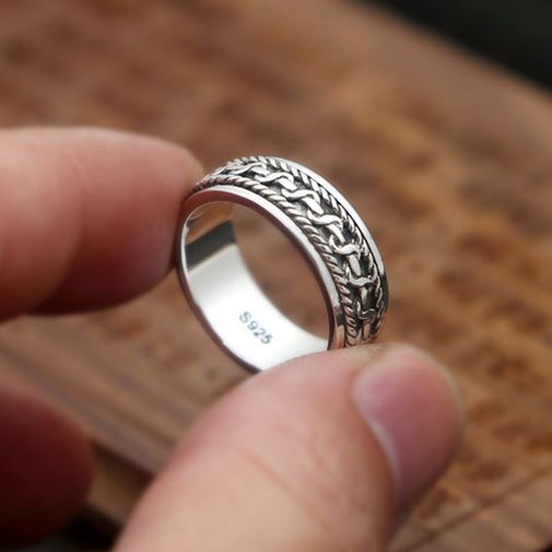 Entwined Around Men's Ring