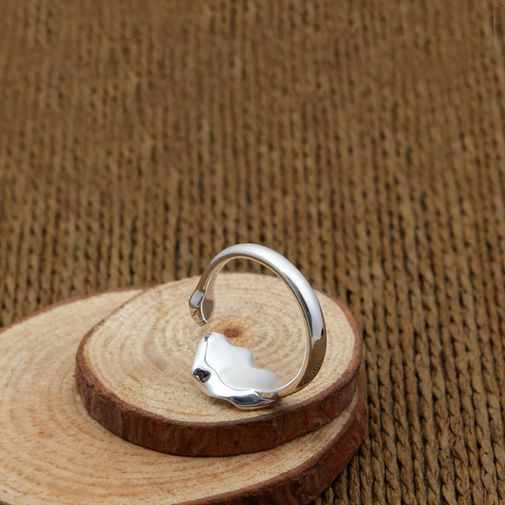 Lotus Leaf and Bud Ring for Women