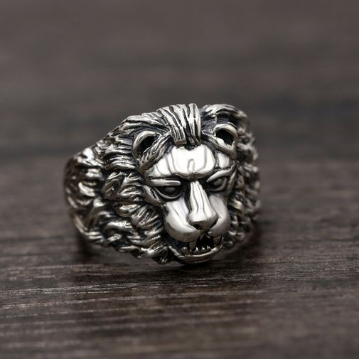 19mm Lion Punk Men's Ring