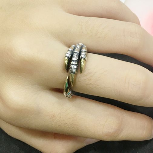 Dragon Claws Silver Open Couples Rings