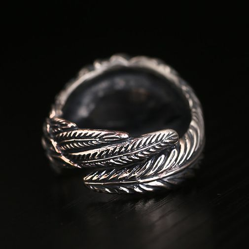 13mm Copper Eye on Feather Wrap Ring