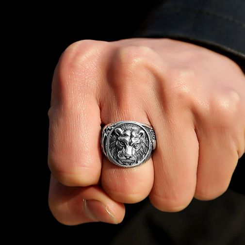 19mm Lion King Signet Ring