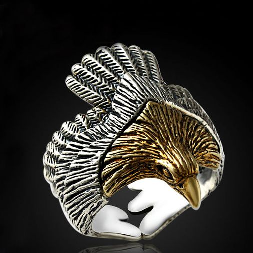 27mm Eagle Spreading Wings Wrap Ring