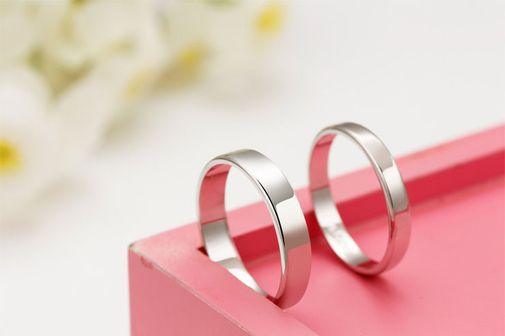 Classic Concise Style S925 Sterling Silver Wedding  Bands
