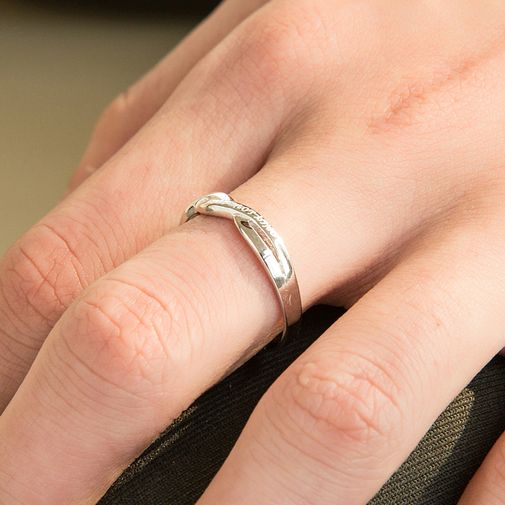Infinity Crisscross 925 Sterling Silver Wedding Bands