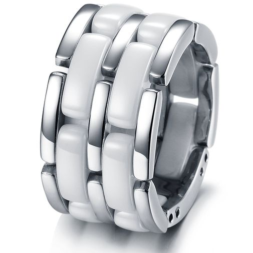 Fashion Stainless Steel Ceramic Band