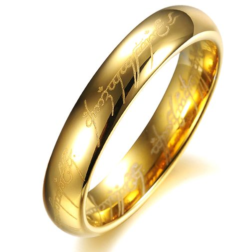 """The Lords Of The Rings"" Couples Matching Tungsten Carbide Rings"