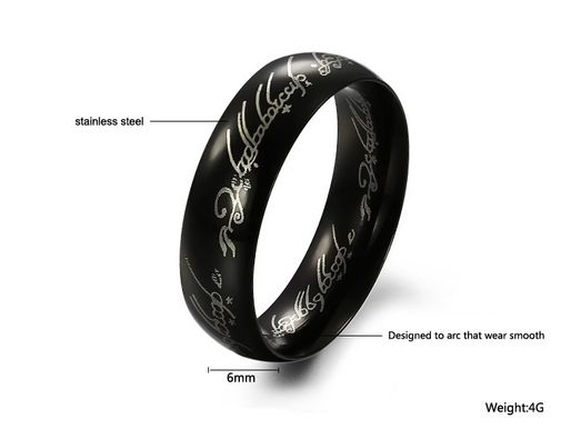 """The Lords Of The Rings"" Men's Titanium Ring"