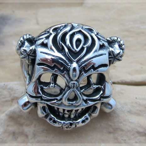 The Expendables II Sly's Skull Lucky Ring - Sterling Silver Version
