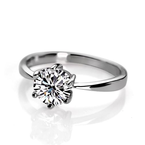 Women's Classic Solitaire 925 Sterling Silver Engagement Ring