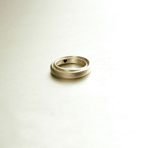 Personalized Vintage Concise Heart Engraved Couple Matching Wedding Rings