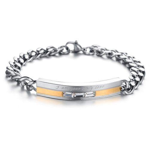 His & Her Fashion Stainless Steel Couple Matching Bracelets