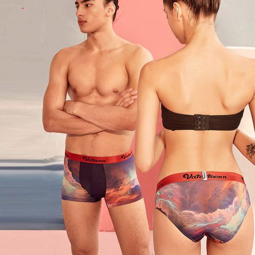 Designer Inspired Sexy Cool Matching Couple Underwear