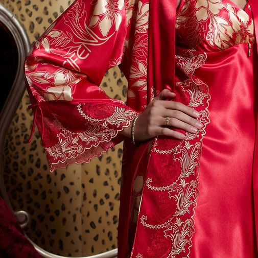 Luxury Silk Robe Sets Matching Sleepwear for Couples