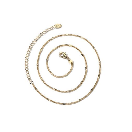 Moon Double Layers Waves Chain Choker Necklace