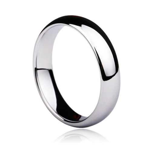 Glossy Tungsten Wedding Ring